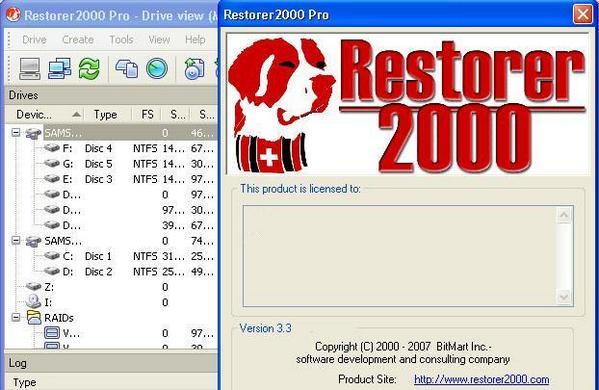 عملاق إستعادة المعلومات Restorer2000 Pro