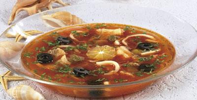 Солянка из кальмаров рецепты